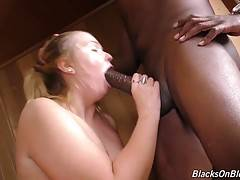 Melissa May won`t ever be satisfied with anything but size, and the blacker and bigger the better.