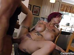 Anna Bell get fucked by huge black dicks