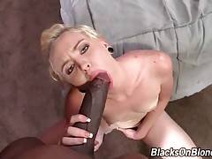 Miley May loves to have her pussy stretched with huge black dick.
