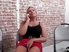 Awesome Abbey Brooks rubs her cunt in adult book store.