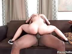 Babe is ready to get her asshole smashed with big black dick.