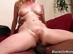 Attractive Blonde Jumps On Big Black Dick 3