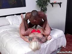 Hot slut loves to feel big black cock moving inside her cunt.