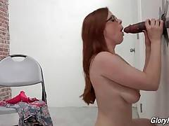 Chick enjoys the taste of large black dick when her girlfriend joins in.