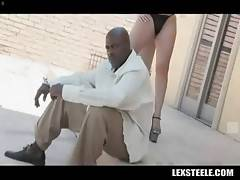 Lexington Steele is always in mood to fuck sexy white chick.