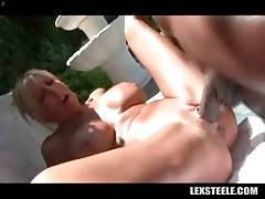 Awesome mature blonde loves to feel black rod inside her cunt.