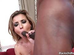 Alana Luv adores massive black dicks penetrating her holes.