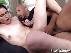 Black Dude Bangs Slutty Brunette Chick 2
